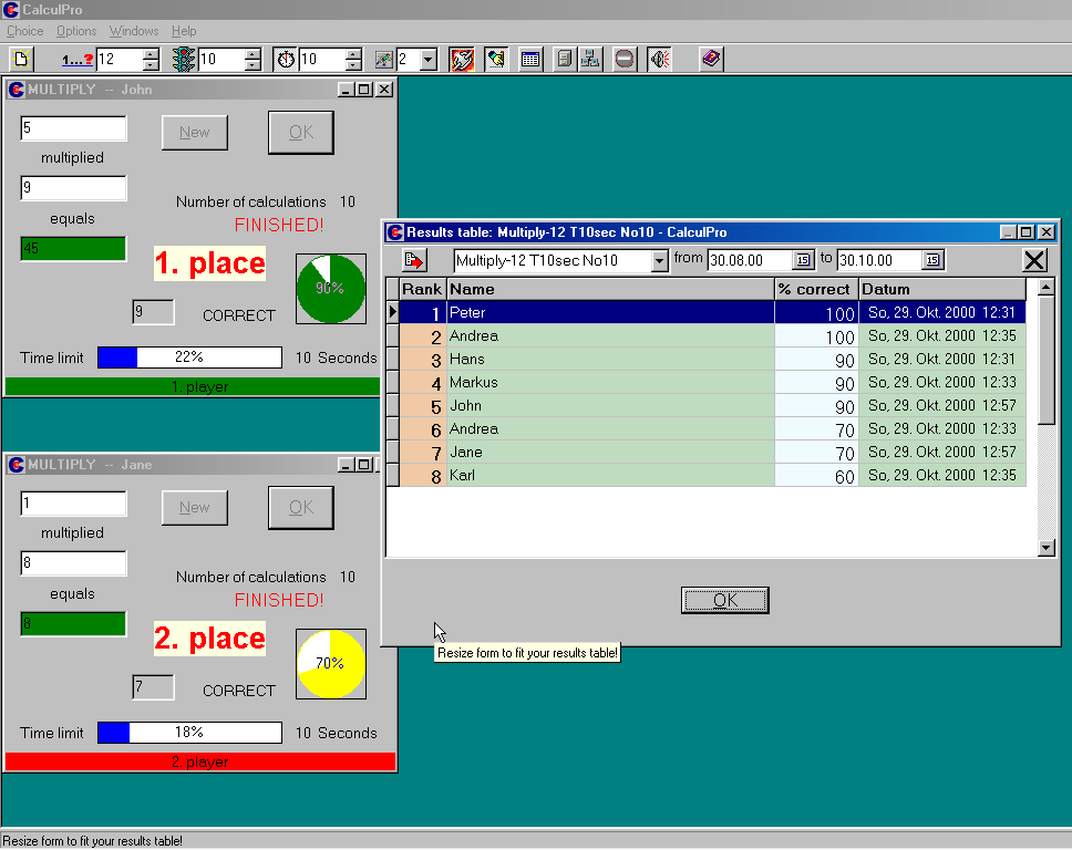 Click to view CalculPro 1.2.1 screenshot